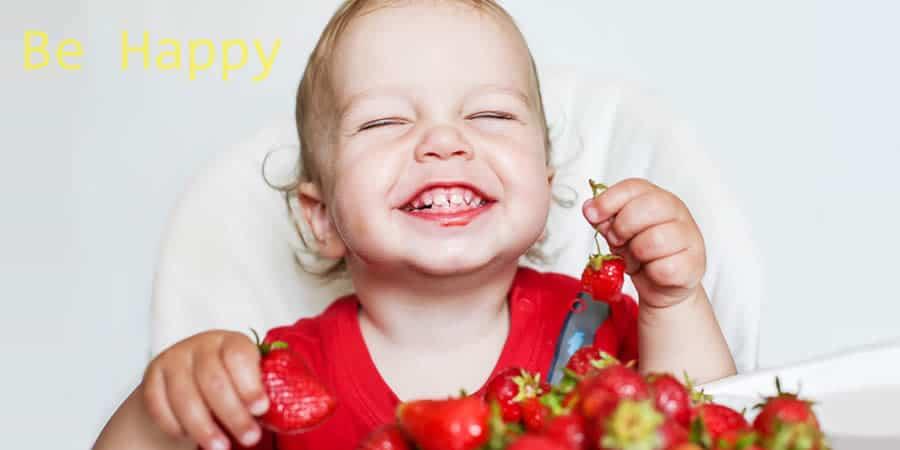 gelukkig worden door eten groenten en fruit