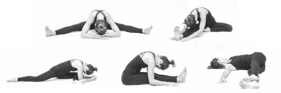 yin yoga houdingen sport hardlopen