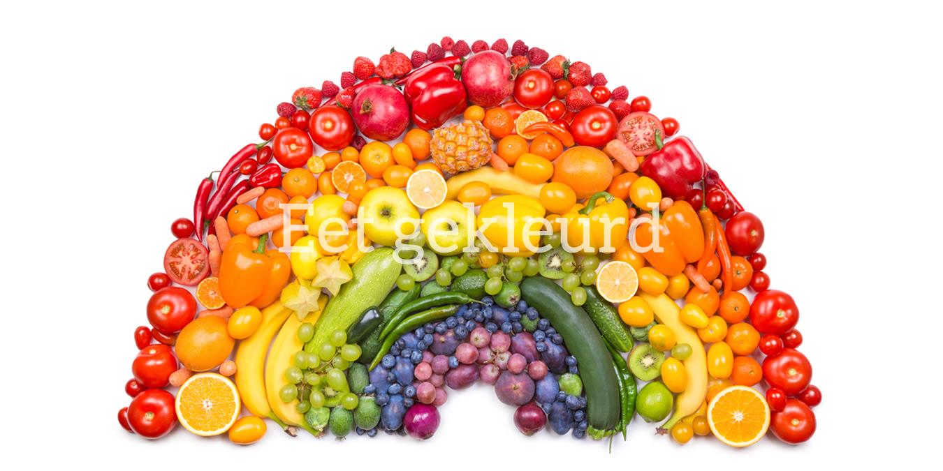 Gekleurden groenten en fruit, gezond, vol voedingsstoffen