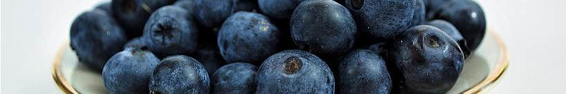 blauw kleur gekleurden fruit voeding